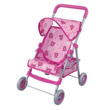 Коляска для куклы Fei Li Toys трость (розовая) FL8186