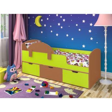 Кровать детская Ярофф Малыш Мини (вишня оксфорд/лайм)