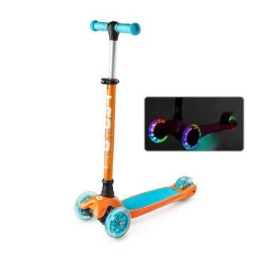 Самокат Trolo Maxi 2017 со светящимися колесами (оранжевый-голубой)