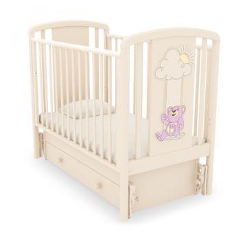 Кроватка детская Гандылян Жаклин Мишка на качелях (универсальный маятник) (слоновая кость 2)