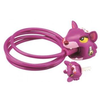 Замок тросовый Crazy Safety (Chesire Cat)