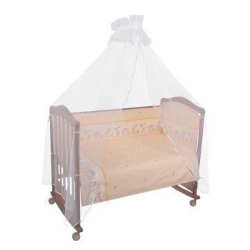 Бампер для кроватки Сонный Гномик Оленята (бежевый)