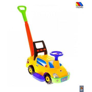 Каталка-автомобиль Molto Пикап с ручкой (Желтый)