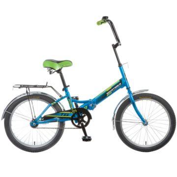 """Велосипед складной Novatrack TG20 20"""" (2016) синий"""