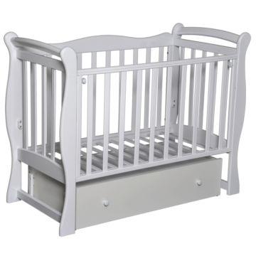 Кроватка детская Антел Северянка 1 (поперечный маятник) белый