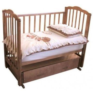 Кроватка детская Можга Элина (поперечный маятник) (красно-коричневый)