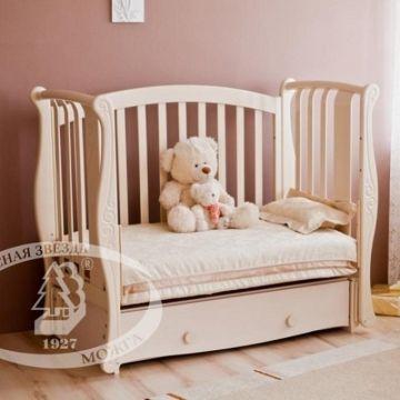 Кроватка детская Можга Ярослава С551 (продольный маятник) (слоновая кость)