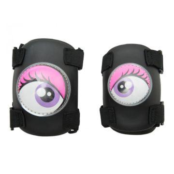 Комплект защиты локтей и колен Crazy Safety (розовый)