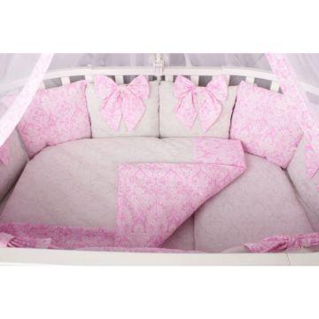 Комплект постельного белья AmaroBaby Элит Premium (18 предметов, бязь) (розовый)