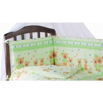 Бампер для кроватки Baby Care Мишутки (Светло-зелёный)