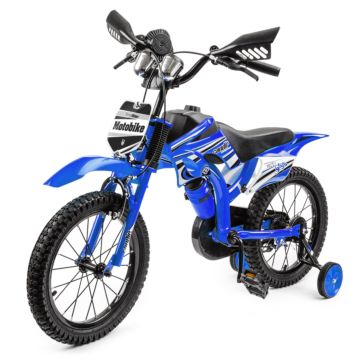 "Велосипед-мотоцикл Small Rider Moto Bike 16"" (синий)"