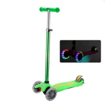 Самокат Sweet Baby Avanti со светящимися колесами Green