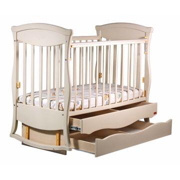 Кроватка детская Наполеон Грация с поперечным маятником (ваниль)