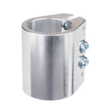 Хомут для руля Grit анодированный c 4-мя болтами 31.8 мм (серебристый)