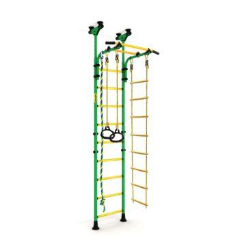 Детский спортивный комплекс Kampfer Strong Kid Ceiling + 26 см (зеленый-желтый)