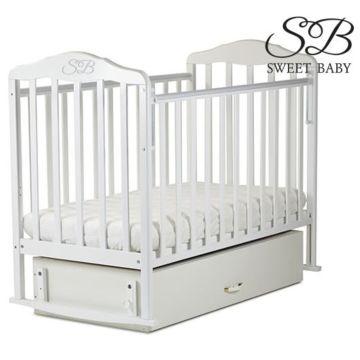 Кроватка детская Sweet Baby (поперечный мачятник) Betulla Bianco