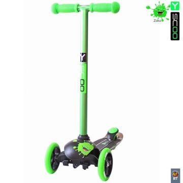 Самокат Y-Scoo Trio Diamond 120 Monsters (зеленый)