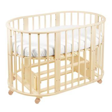 Кроватка-трансформер Sweet Baby Delizia (поперечный маятник) (слоновая кость)