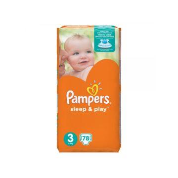 Подгузники Pampers Sleep&Play Midi (5-9 кг) Ромашка 78 шт