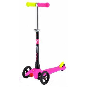 Самокат Y-Scoo Mini Glam с регулировкой руля (розовый) ДИСКОНТ