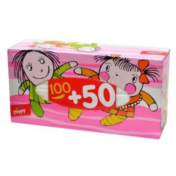 Платочки бумажные Bella Baby Happy двухслойные Ляльки 100+50 шт