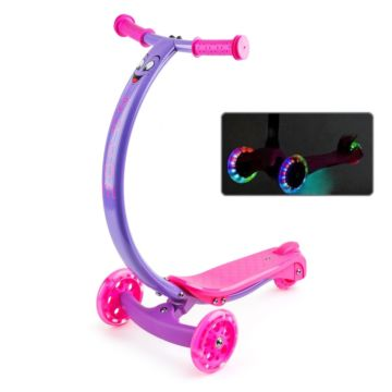Самокат Zycom Zipster со светящимися колесами (фиолетово-розовый)