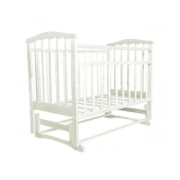 Кроватка детская Агат Золушка-5 (продольный маятник) с подставкой (Белый)