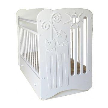 Кроватка детская Островок Уюта Ля-Мур (поперечный маятник) (белый)