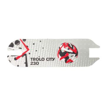 Антискользящая наклейка на деку самоката (красный)