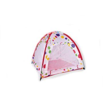 Детская палатка с каркасом и шарами Yako (Бело-красный)