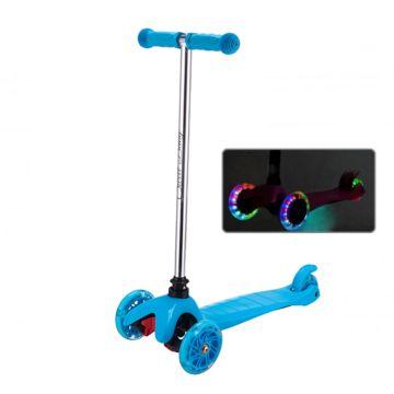 Самокат Sweet Baby Triplex Light со светящимися колесами Blue