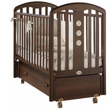 Кроватка детская Feretti Elegance Swing (продольный маятник) (орех)