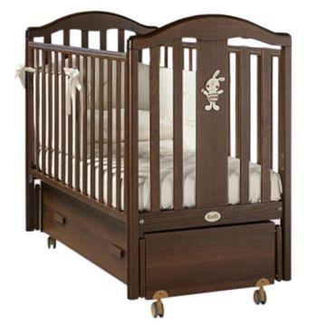 Кроватка детская Feretti Ricordo Swing (продольный маятник) (орех)