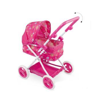 Коляска для куклы Fei Li Toys в коробке (розовая) FL8137-1