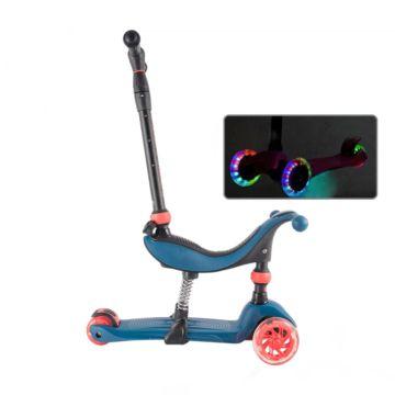 Самокат TechTeam TT Genius со светящимися колесами 2018 (синий)