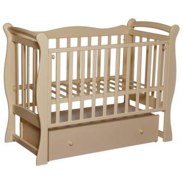 Кроватка детская Антел Северянка 1 (поперечный маятник) слоновая кость