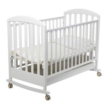 Кроватка детская Papaloni Джованни (качалка-колесо) (Белый)