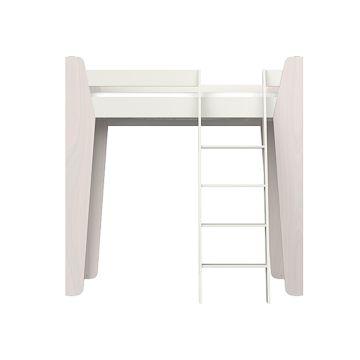 Кроватка-чердак Ellipse Line L (молочный)
