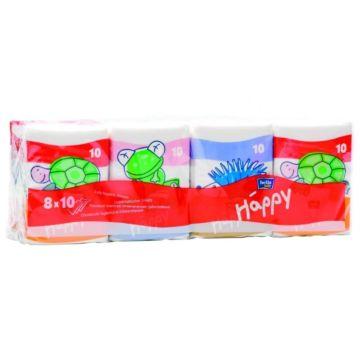 Платочки бумажные Bella Baby Happy трёхслойные Звери мини 10х8 шт