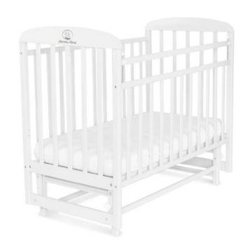Кроватка детская Альма-Няня Милана (поперечный маятник) (белый)