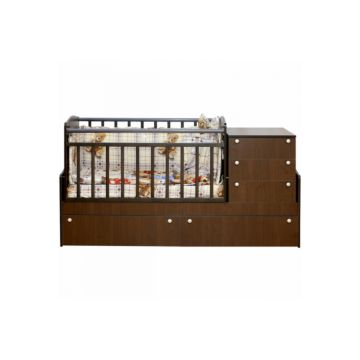 Автоматическая кровать трансформер Daka Baby Укачай-ка 05 с механизмом (Орех)