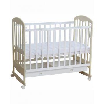 Кроватка детская Фея 325 светлая (качалка-колесо) (Белый-ваниль)