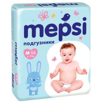 Подгузники Mepsi большая пачка M (6-11 кг) 64 шт.
