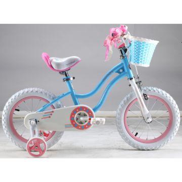 """Детский велосипед Royal Baby Stargirl Steel 14"""" (розовый/голубой)"""