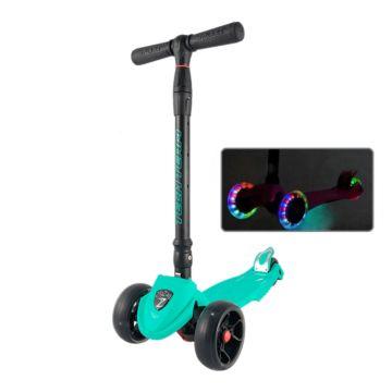 Самокат TechTeam ZigZag 2018 со светящимися колесами (бирюзовый)