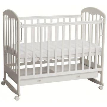 Кроватка детская Фея 325 светлая (качалка-колесо) (Белый)