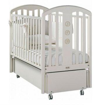 Кроватка детская Feretti FMS Elegance (продольный маятник) (белая)
