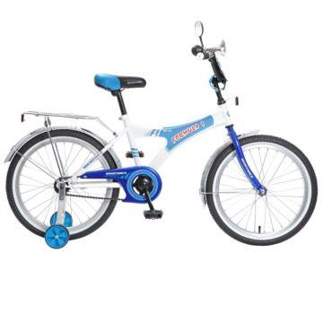 """Детский велосипед Novatrack Формула 20"""" (2016) сине/белый"""