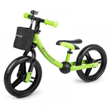 Беговел KinderKraft 2 WAY Next с аксессуарами (green)