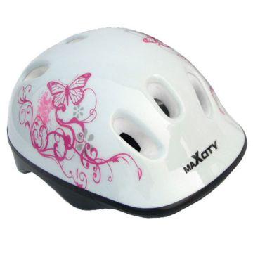 Шлем MaxCity Caribo Girl S (белый)